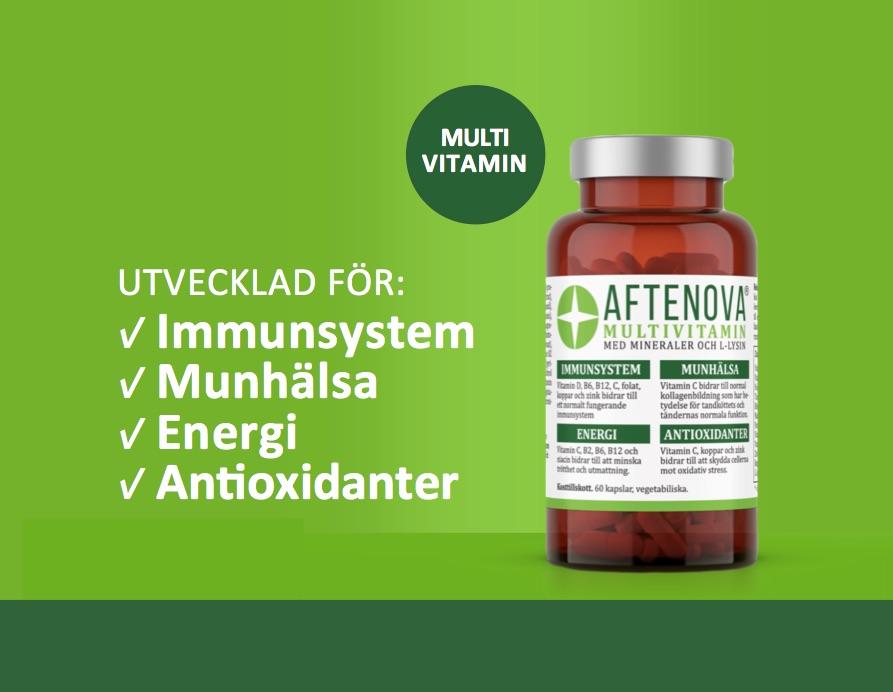 AfteNova Multivitamin med Mineraler och L-Lysin